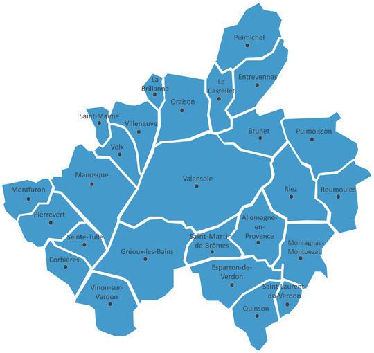 Carte indiquant les 26 communes membres